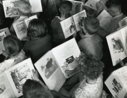 Children reading c.1960 'Celebrating World Book Day'