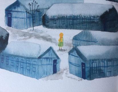 """Reproduktion/Ausschnitt aus: """"Kinder mit Stern"""", Martine Letterie mit Bildern von Julie Völk, Seite 98"""